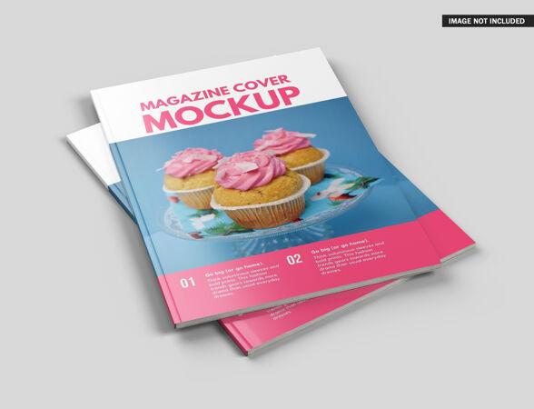 美丽的杂志封面模型设计