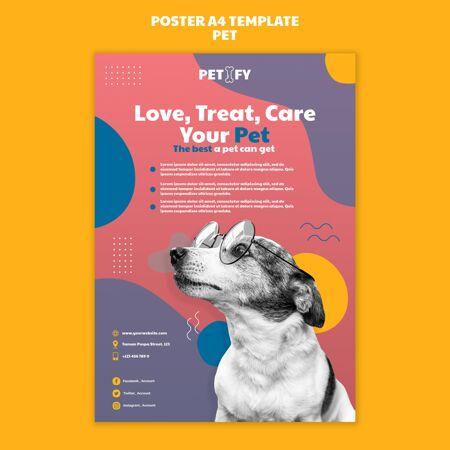可爱的宠物海报模板